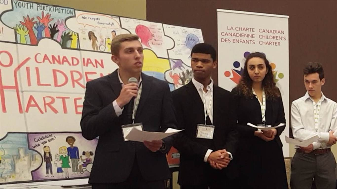Bishop Ryan student lends voice to National Summit